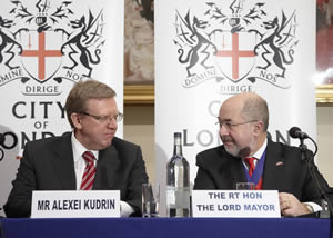 Lord Mayor with the Russian Finance Minister